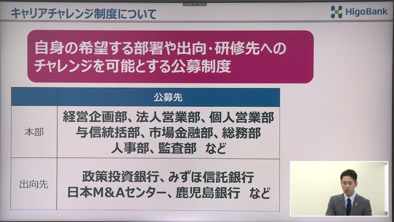 【肥後銀行】新卒採用会社説明動画②人材育成・福利厚生